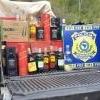 PRF de Teófilo Otoni apreende veículo  carregado de bebidas alcoólicas sem documento fiscal
