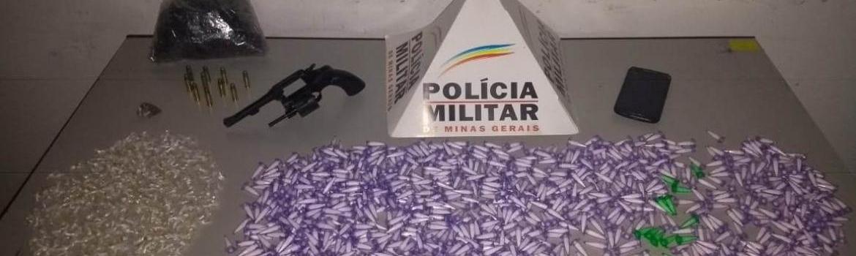 Polícia prende traficante com quase 800 pinos de cocaína e mais de 300 pedras de crack